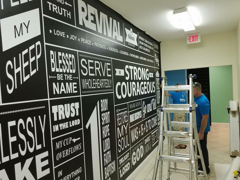 Wall Graphics for Assembly of God in Destin FL
