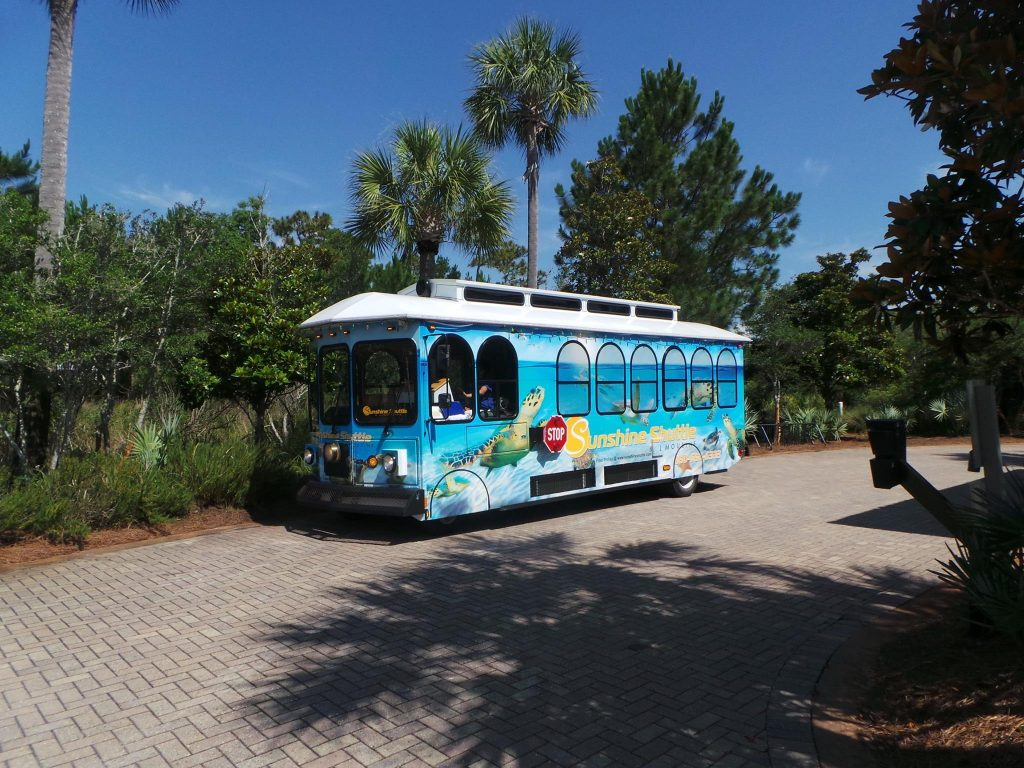 Sunshine Shuttle Trolley Wrap